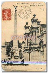 Old Postcard Aix en Provence Preachers Church of Place de la Madeleine