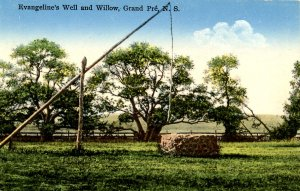 Canada - Nova Scotia, Grand Pre. Evangeline's Well & Willows
