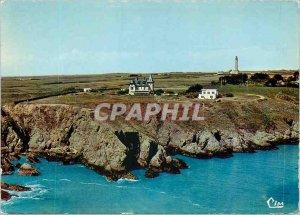 Postcard Modern Belle Ile en Mer (Morbihan) Aerial view Hotel Grand Large