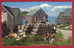 TYPICAL MAINE FISHING VILLAGE. MONHEGAN, MAINE  SEE SCAN