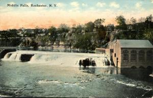 View of the Middle Falls NY, Rochester, New York - DB