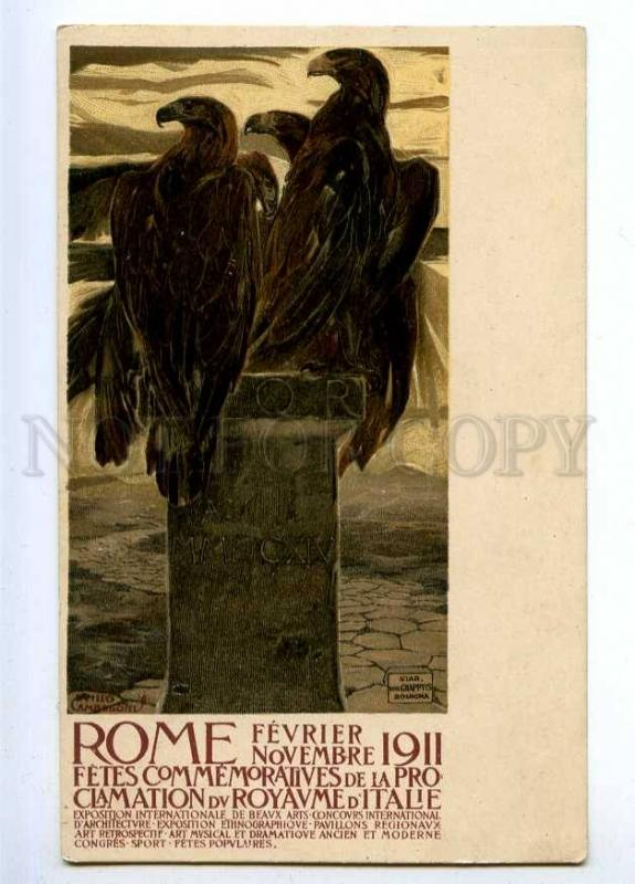 189385 EAGLE 1911 International Fine Arts Exhibition ITALY old