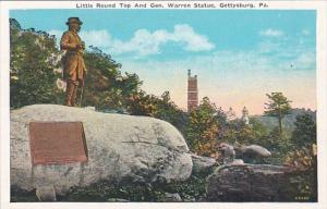 Pennsylvania Gettysburg Little Round Top & General Warren Statue 1935