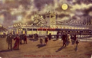 STEEPLECHASE PIER AT NIGHT ATLANTIC CITY, NJ 1910 publ by Koffman Bros.