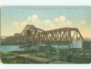 Unused Divided-Back BRIDGE SCENE Vancouver Washington WA HJ0407