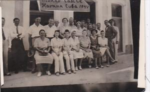Cuba Havana Group Portrait Morro Castle 1941 Real Photo