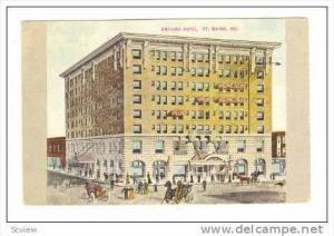 Anthony Hotel, Ft. Wayne, Indiana, PU-1909