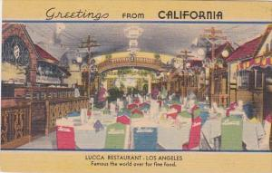 Greetings From California Interior Lucca Restaurant Los Angeles
