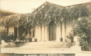 California C-1910 El Mirasol Santa Barbara RPPC Photo Postcard 20-2863