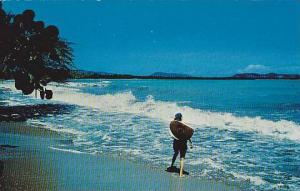 Sandy Beach At St. Louis Du Sud On The Way To Aux Cayes, Haiti, West Indies, ...