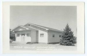 RPPC of Parish Hall St Anthony Catholic Church, Donnybrook North Dakota ND