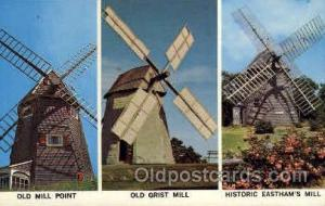 Windmill on Cape Cod, Massachusetts, USA Windmills Postcard Post Cards, Old V...