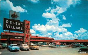 1950s Desert Village Motel pool autos Fort Worth Texas Stryker Colorpicture 1162
