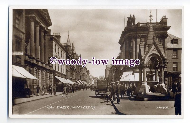 aj0039 - High Street , Inverness , Scotland - postcard