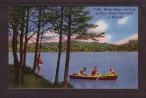 Virginia Post Card Rowboat Fairy Stone Park Bassett