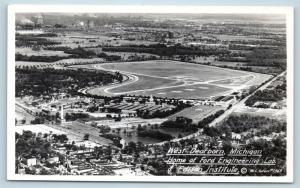 Postcard MI West Dearborn Airview Ford Engineering Lab RPPC Oden Real Photo G27