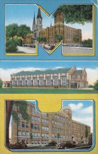 Three Views, Marquette University, MILWAUKEE, Wisconsin, 1930-1940s