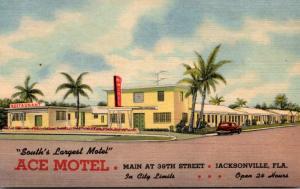 Florida Jacksonville Ace Motel Curteich