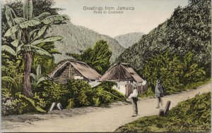 Greetings from Jamaica Road to Castleton UNUSED Duperly & Son Postcard F52