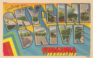 Large Letter Greetings , SKY LINE DRIVE , Virginia , 30-40s
