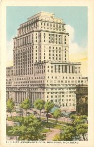 Montreal Quebec~Sun Life Assurance Co's Building~1940s Postcard