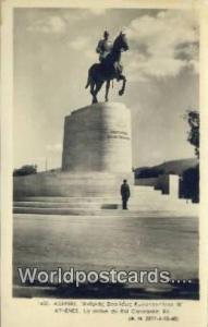 Greece La Statue du Roi Constantin XII Athenes La Statue du Roi Constantin XI...