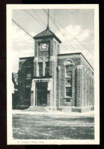 dc523 - ST JOSEPH D'ALMA Quebec 1930s Post Office Postcard