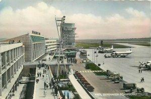 Vienna airport semi-modern photo postcard Austria
