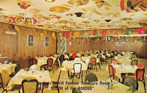 SOUTH OF THE BORDER, South Carolina, PU-1969; Interior, Pedro's Sombrero Room