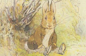 The Tale Of Benjamin Bunny 1904 Beatrix Potter Book Postcard