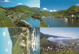 Blick Auf Bernkastel 4x Rhine Boats Austria Postcard s