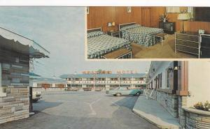Interior Room, Classic Cars Parked Outside the West End Motel, Montreal, Queb...
