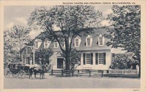 Virginia Williamsburg Raleigh Tavern And Colonial Coach