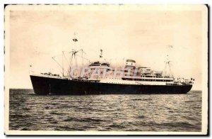 Old Postcard Boat Ship Compagnie Maritime des Chargeurs Reunis Foucauld Brazza