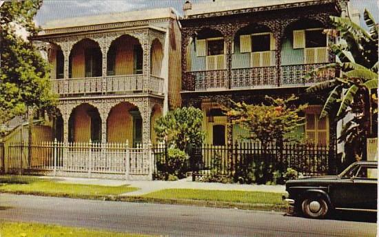 Louisiana New Orleans Lovely Antebellum Homes 1955