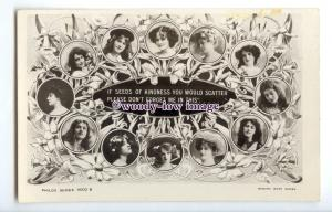b5967 - Stage Actresses - Various Actresses in a Collage, No.9002 B -  postcard