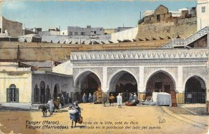 MIV0041 morocco tanger citi entrance cannons donkey arab in traditional costume