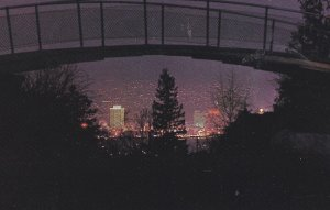 VANCOUVER , B.C., 50-60s ; From Little Mountain at night