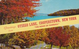 New York Cooperstown Greetings From Otsego Lake 1962