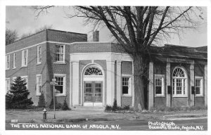 Angola New York Evans National Bank Real Photo Vintage Postcard JF685682
