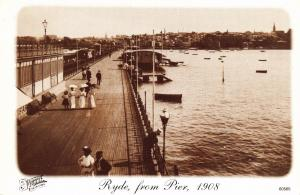 Postcard RYDE from Pier 1908 Isle Of Wight Francis Frith Collection Repro Card