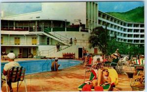 ST. THOMAS, U.S Virgin Islands  VIRGIN ISLES HOTEL Pool  Cunard Line Postcard