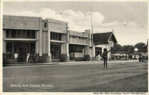 indonesia, JAVA SOERABAIA, Goebeng corner Simpang, Police (1920s) Postcard