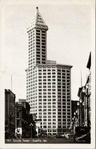 Seattle WA Smith Tower #757 Johnston RPPC c1949 Postcard G50