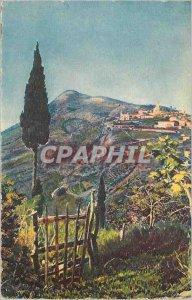 Old Postcard The local village saw the Grande Corniche French Riviera La Douc...