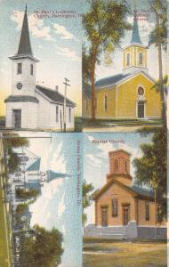 Barrington Illinois~St Paul's Lutheran~Catholic~Baptist~Salem Church~1910 PC