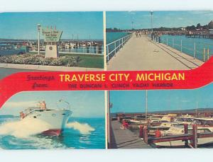 Unused Pre-1980 FOUR VIEWS ON CARD Traverse City Michigan MI ho7913
