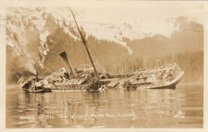 RP: False Bay , Alaska , 1920-30s ; Shipwreck of the MARIECHEN