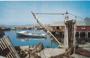 Fishing Scene at Dock, Yarmouth County, Nova Scotia, Canada, 1950-60s