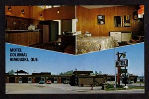 View Motel Colonial RIMOUSKI QUEBEC CANADA Postcard PC